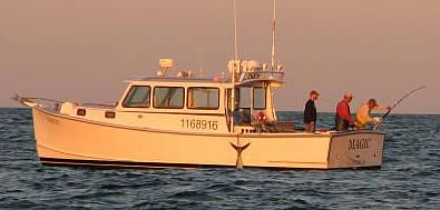 Fishing vessel Magic, Maine-built RP, charter boat